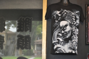 "Tattoo-inspired clothing at ""My Tattoo"" studio in Alhambra, CA"