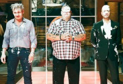 Warmer and messier side of judges: Chef Gordon Ramsay, Chef Graham Elliot and Joe Bastianich Photo credit: TV Guide