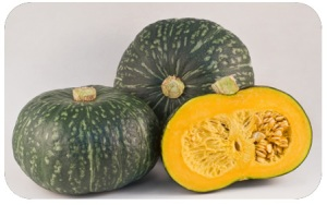 Kabocha pumpkin photo courtesy of wholedelicious.com